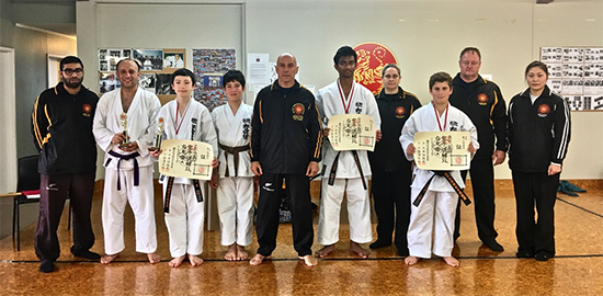 Shodan presentation Certificates to from left Aiken, Pranav and Aboudi.